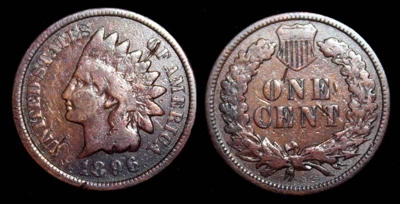 US Indian Head Penny 1896