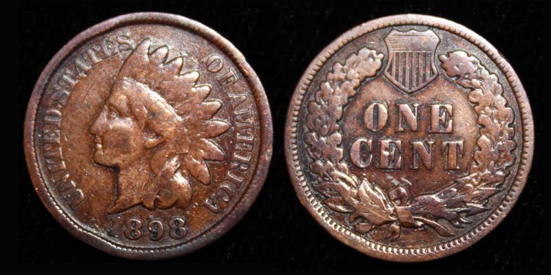 US Indian Head Penny 1898