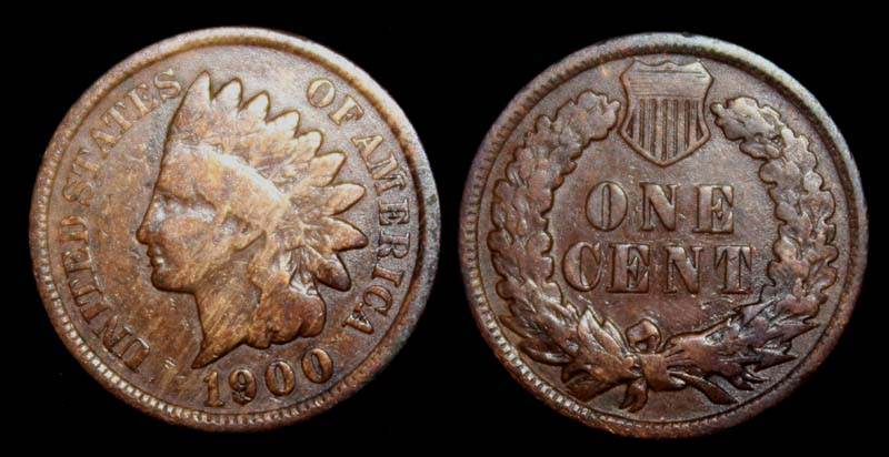 US Indian Head Penny 1900