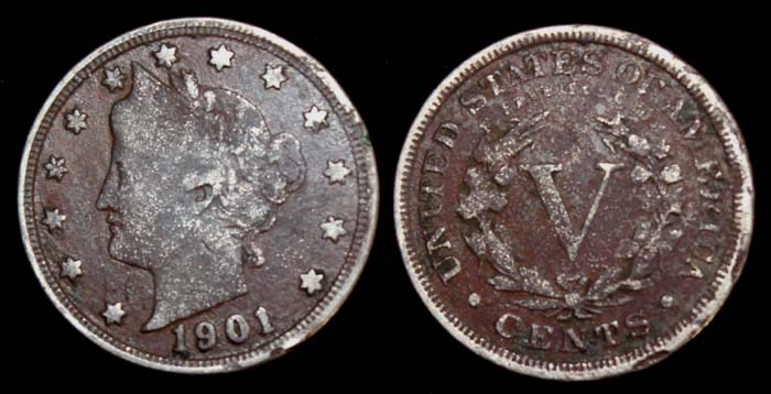 1901 V Cent Liberty Nickel