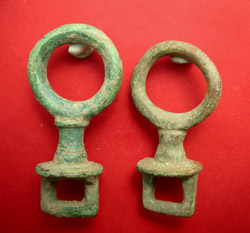 Terret, Roman Wagon Harness Fitting, 2-Pack, c. 2nd-3rd Cent. AD