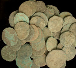 3 Ounce Bags of Roman Uncleaned Coins