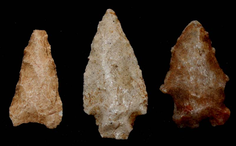 Pueblo Culture Arrow Point Trio, ca. 12th Cent AD