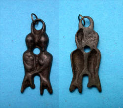 "Avar/Steppe Nomads ""Adam and Eve"" Pendant, c. 8th-13th Cent AD"