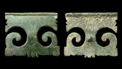 Strap End or Mount, peltate/lunar, c. 2nd Cent.