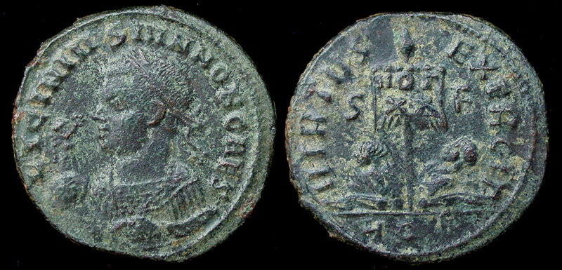 Licinius II (Jr) Victory on Globe Portrait, Rare 4!