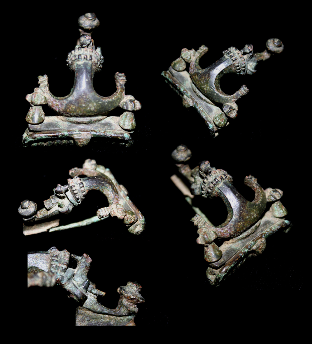 Brooch, Pannonian Anchor with Bird decoration, Museum Quality