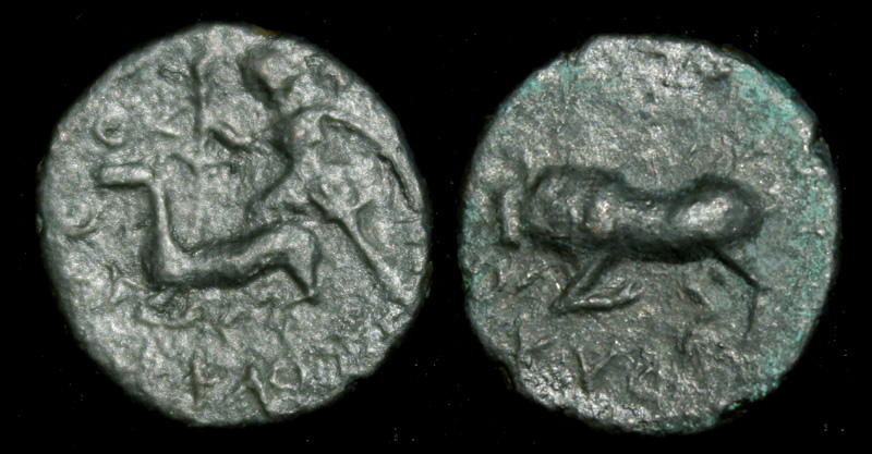 Thrace, Chersonesos City Issue, Virgo & Bull, c. 300 BC.