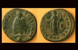 Antioch, Anonymous City Issue, Tyche, River God and Apollo