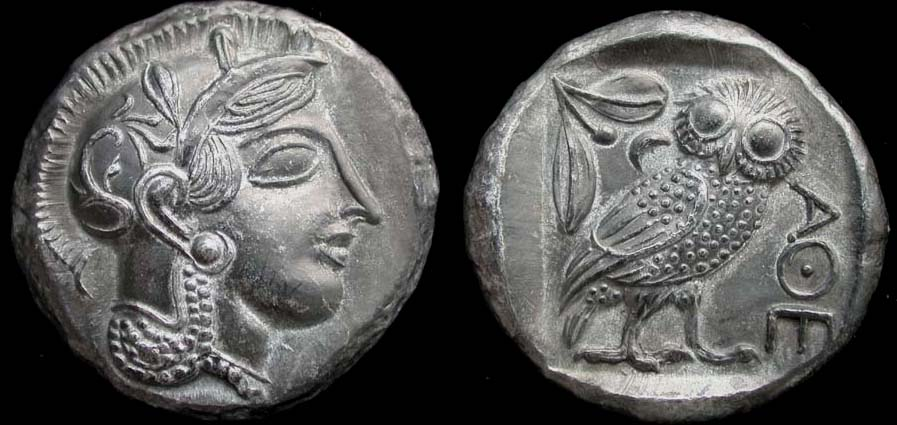 Athens Tetradrachm, Greece 455-499 BC