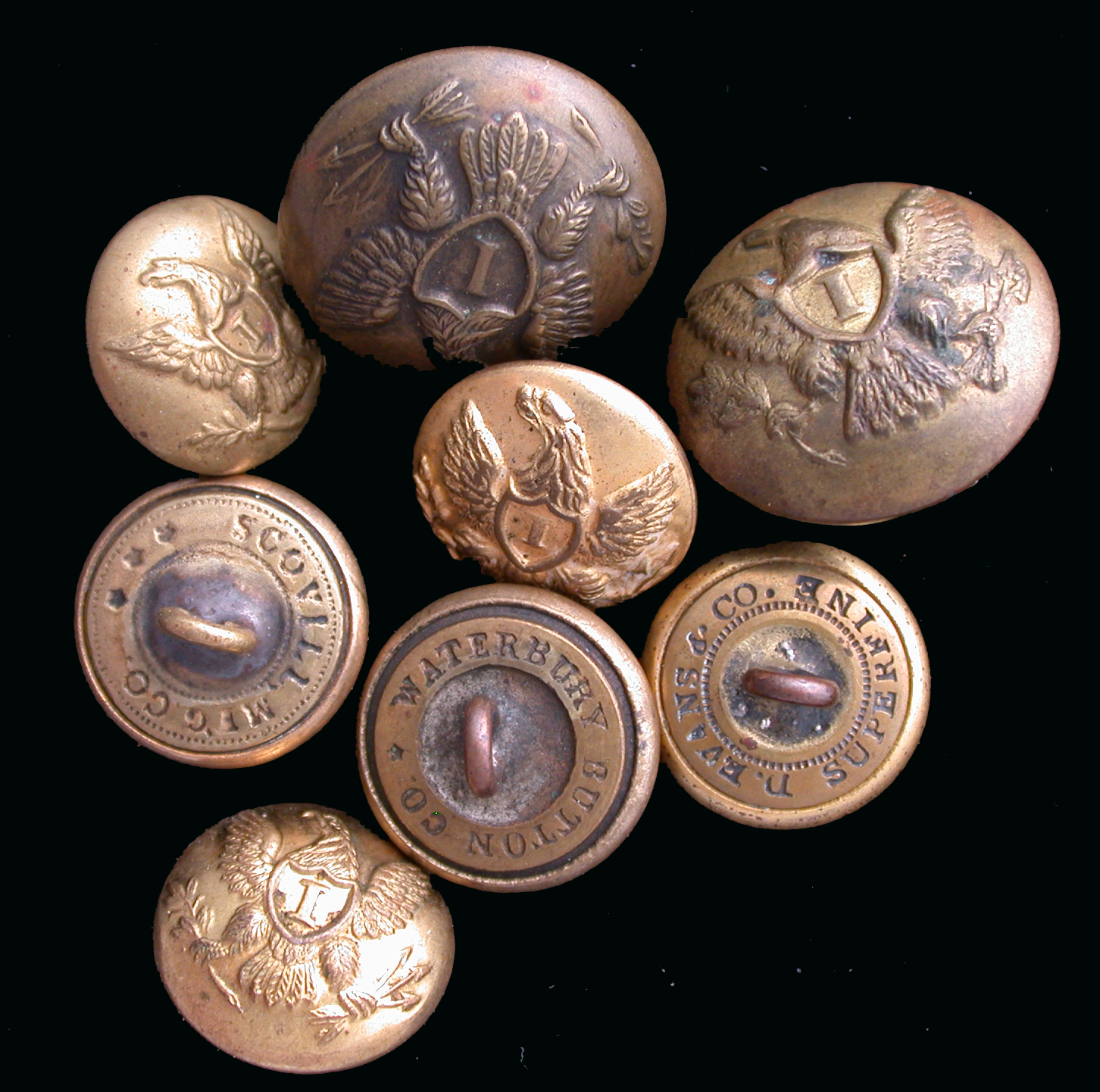 US Civil War Buttons, Authentic