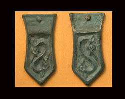 Avar, Strap End, Dragonesque, Duel-sided, c. 6th-7th Cent AD