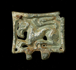 Avar, Belt Plate, Zoomorphic Griffin, c. 6th-7th Century AD