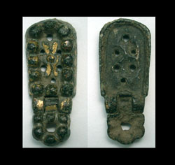 Avar, Belt Plate with Pendent, c. 6th-7th Century AD