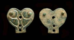 Avar, Strap End, Heart shaped, c. 8th Cent AD