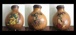Gourd Art, Maya, Three Depictions