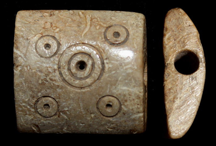 Carved Bone Bead, c. 1st-3rd Century