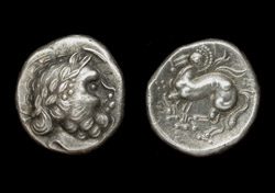 Celtic, Drachm, Danube Area, ca. 3rd-2nd Cent BC