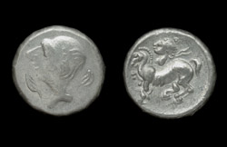 Celtic, Hemidrachm, Danubian Tribes, ca. 3rd-2nd Cent BC