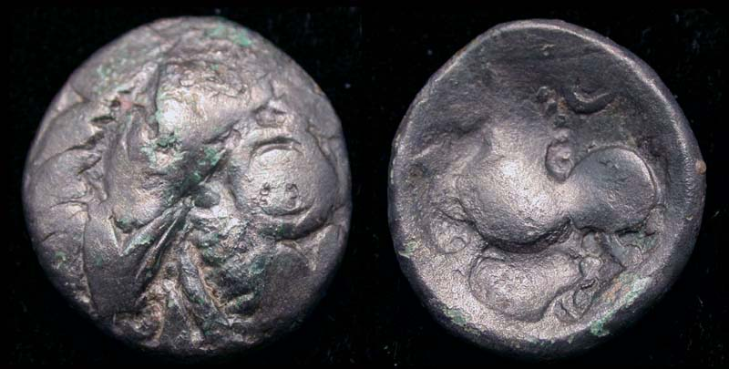 Celtic Æ Tetradrachm, Imitative Issue of Greek Alexander