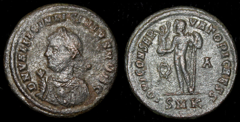 Licinius II (Jr), Mappa, globe and sceptre issue