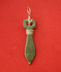Roman Soldier Phallic Strap End, ca. 1st Cent. AD