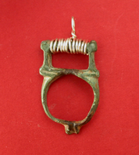 Medieval Shoe Buckle Pendent, ca. 15th-17th Cent. AD