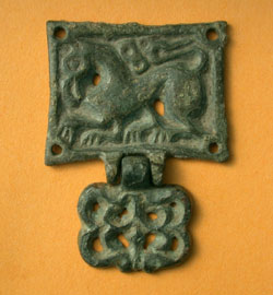 Avar, Belt Plate, Zoomorphic Griffin with Pendent, c. 6th-7th Century AD