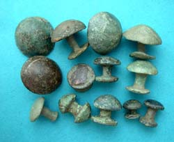 Belt Studs, Fungi-form, 13-Pack, 1st-2nd Cent AD
