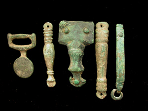 Belt Mounts, Five Assorted Types, ca. 1st-3rd Cent.