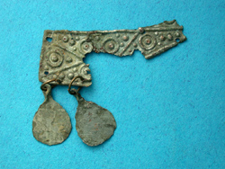Viking era Strap Adornment with Axe Pendents, c. 10th-12th Cent