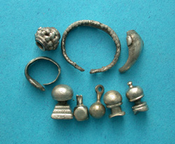 Collection of Silver Jewelry Artifacts
