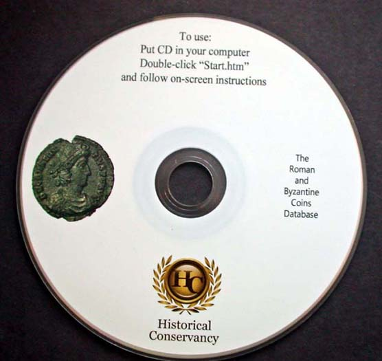Ancient Roman/Byzantine Coin CD Data Base