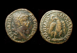 Thrace, Anchialus, Caracalla, Eagle reverse