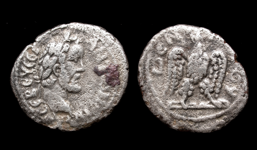 Roman Egypt, Antoninus Pius, Billon Tetradrachm, Eagle Reverse