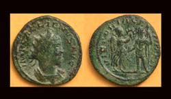 Gallienus Antoninianus, German Victory, Antioch Mint