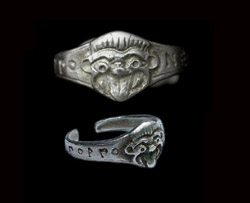 Silver Gorgon Ring