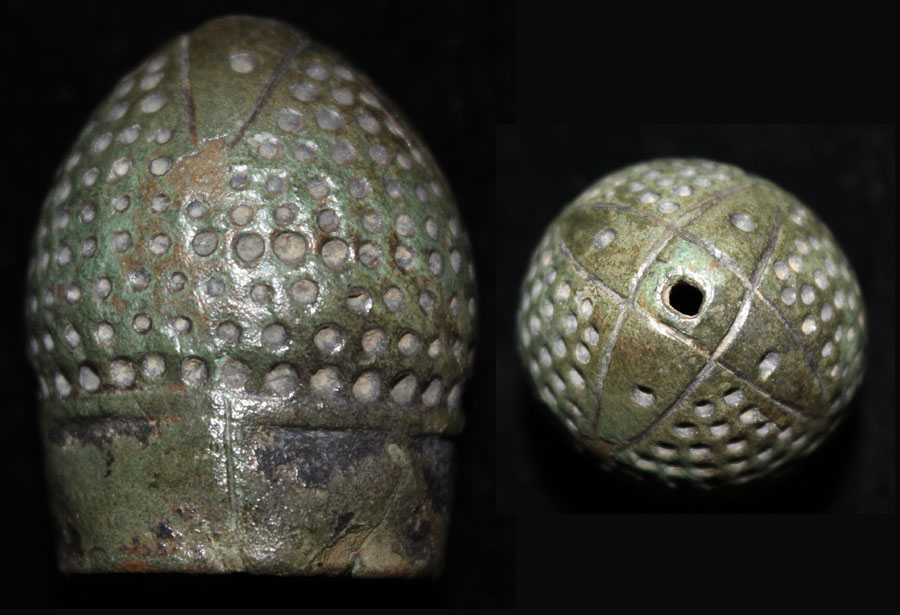 Thimble, Hispano-Moresque 12th Cent Bronze