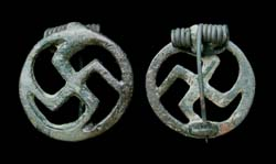 Brooch, Swastika, Open-work type, ca 1st-2nd Cent AD SOLD!