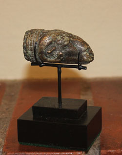 Ram's-headed Patera handle terminal, ca. 1st-3rd Cent. A.D.