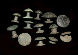 Belt Studs, Fungi-form, Lot of Thirteen, 1st-2nd Cent AD