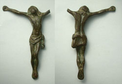 Crucified Christ Statuette c. 18th Cent