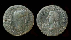King Cotys I, Claudius and Agrippina II, c. 49- 54 AD