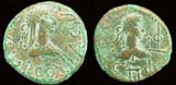 King Thothorses & Diocletian, Ae Stator, ca. 286 AD