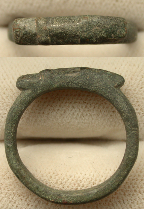 Ring, Roman, Men's, ca. 2nd-3rd Cent, Zoomorphic?
