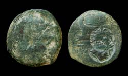 Panticapaeum, Poseidon/Galley Prow, Two over-strikes, c. 250-200 BC