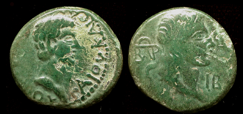 King Aspurgus and Caligula (Gaius), 37/38 A.D.
