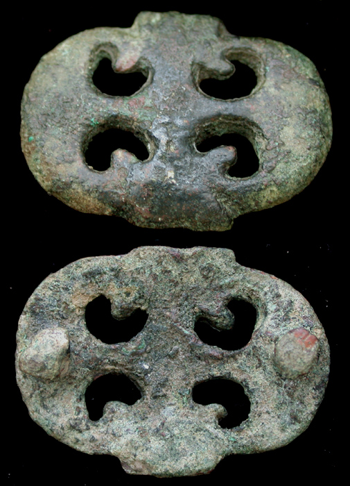 Belt Mount, Open-work, Pelta Design, c. 1st Cent.