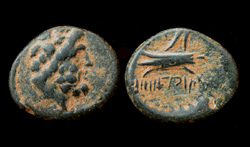 Phoenicia, Arados God and Galley, City issue c. 2nd Cent BC