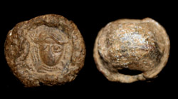 Byzantine Lead Seal, Empress Facing, ca. 8th-11th Century AD